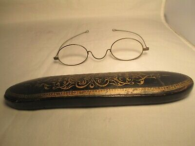 Late Georgian/Victorian reading glasses with Chinese papier mache laquered (Victorian Reading Glasses)