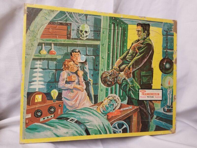 1963 JAYMAR FRANKENSTEIN WOLFMAN RARE FRAME TRAY PUZZLE VERSION #1 FS CHECK PICS