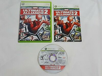Marvel Ultimate Alliance 2 XBox 360 Game COMPLETE marval altimate ii rpg US NTSC for sale  Shipping to India