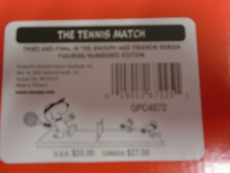 Peanuts Gallery The Tennis Match