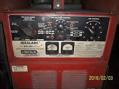 Lincoln Mig Welder  Idealarc R33s-325  325 Amp W Ln7 Wire Feeder  Nice