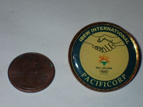 IBEW Collectible Lapel Pin International Pacificorp Olympic Sponsor