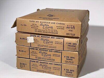 Vintage Huron Copysette Carbon Typewriter Paper 8x10.5 Size - Lot Of 4 Boxes