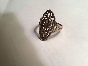 Women's Silver Filigree Ring