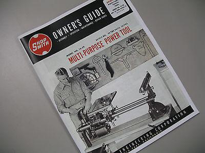 Shopsmith Model 10-ER (10 ER) Magna Owners Guide