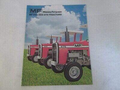 Massey Ferguson Models Mf 255 265 275 Tractors Brochure
