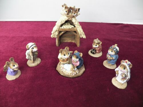 WEE FOREST FOLKS NATIVITY SET 7 PIECE AP WITH BOXES