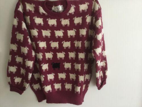 Princess Diana same label  Burgundy Black Sheep Sweater Pullover Warm Wonderful