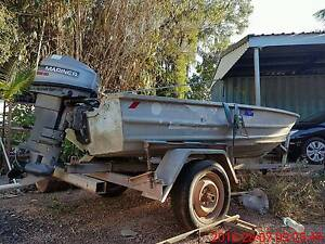 CHEAPEST BOAT MOTOR AND TRAILER PACKAGE 3.6M  aluminium dinghy Rapid Creek Darwin City Preview