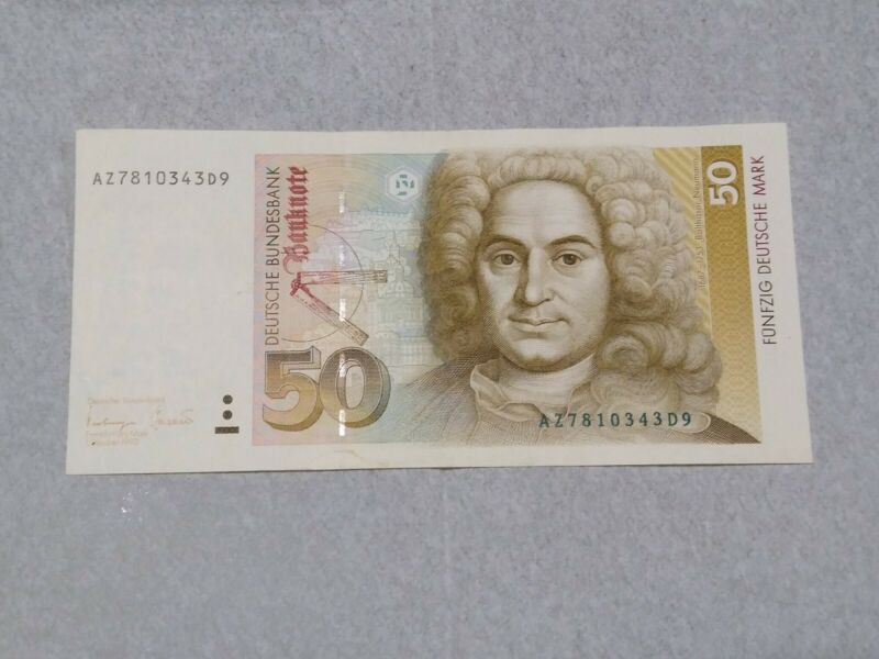 1993 GERMANY  FEDERAL  REPUBLIC  50 MARK ..P 40 ..* XF - AU *