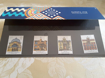 The Europa 1990 First Day Cover, comprising of four stamps.