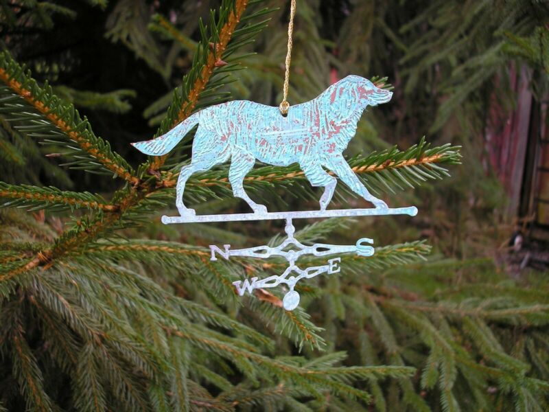 Copper Weathervane Ornaments in Verdigris Finish: New & Made in the USA