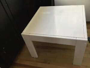 Rustic white square coffee table-