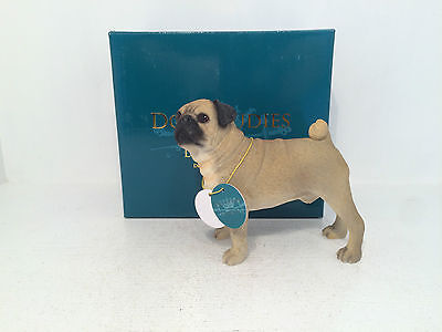 Dog Studies by Leonardo Fawn Tan Brown Pug Figurine Ornament *BRAND NEW BOXED*