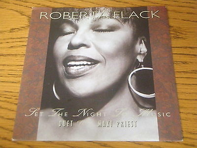 ROBERTA FLACK with MAXI PRIEST- SET THE NIGHT TO MUSIC     7