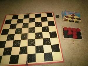 Draughts/checkers set with board - board game Glen Waverley Monash Area Preview