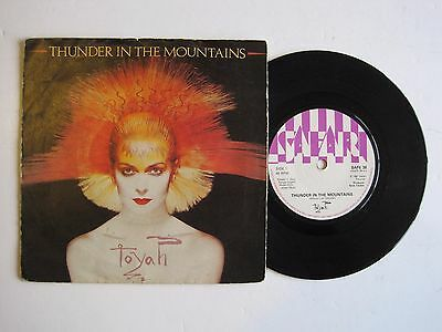 "TOYAH - THUNDER IN THE MOUNTAINS - 7"" 45 rpm vinyl record"
