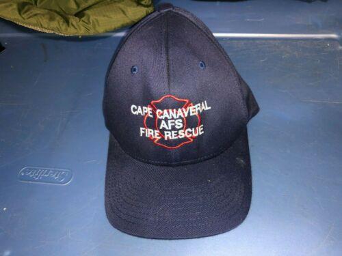 CAPECANAVERAL AFS Air Force Station FL FIRE Rescue Hat Cap Size Large XLarge