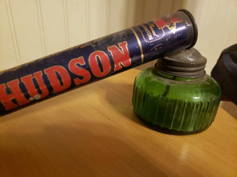 VINTAGE HUDSON BUG / GARDEN SPRAYER DUSTER w/ GLASS JAR