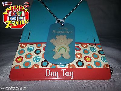 Cheer Bear - Care Bear Dog Tag Necklace - 100% Huggable