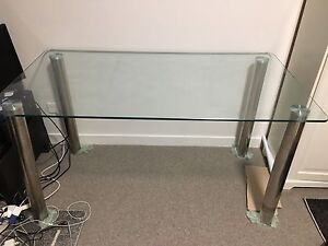 Glass desk with chrome legs. Hornsby Hornsby Area Preview