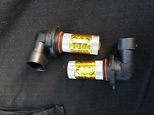 2 x 9005 Yellow Projector Lights DRL Fog Lights