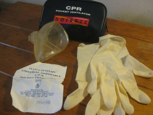 Retro Universal Disposable CPR Pocket Ventilator Pack (Norvasc) 1980s (Canada)