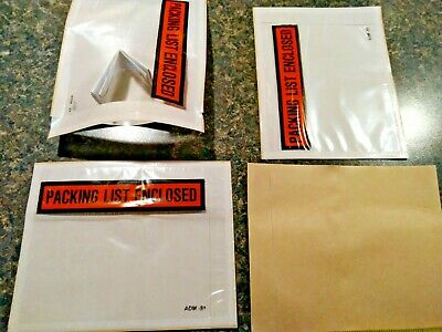 Packing Slip Shipping Envelope List Clear Self-adhesive 4.5 X 5.5 Enclosed Pouch