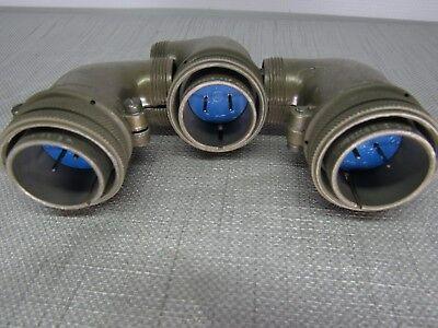 Amphenol Ms3108b22-11p Size 22 Lot Of 3