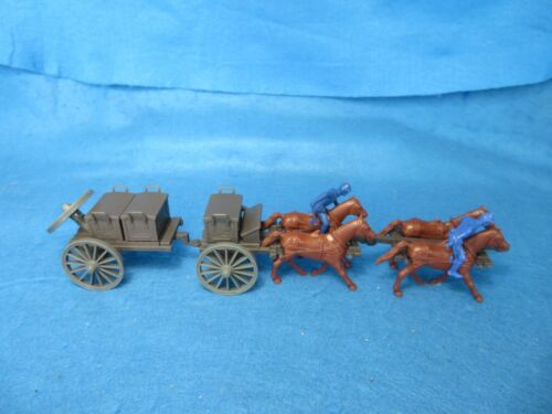 Civil War Limber + caisson with 4 horse team+Union outriders, 1/32 plastic CTS