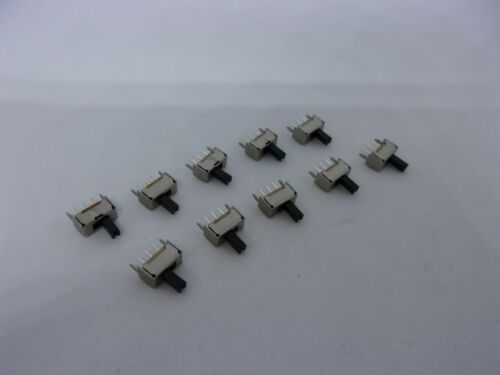 10Pcs Pack On Off Mini Slide Switch 1P2T SPDT 3 Pin Toggle Button SS12D07VG4 5mm