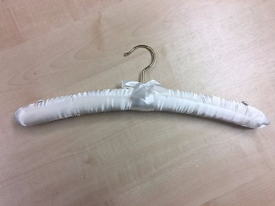 Satin covered Hangers cream 39cm ideal for boutiques x 100