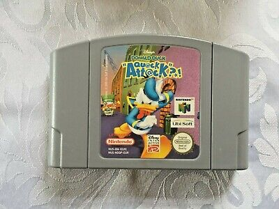 Donald Duck-Quack Attack** Official N64 Game Cart only**Pal Version
