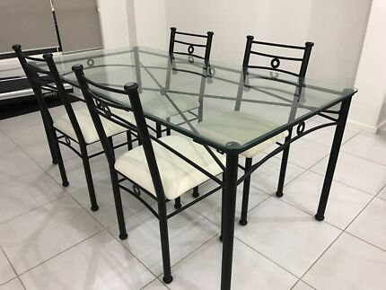 Dining Table & 4Chairs in good condition. Shelving Unit extra $60