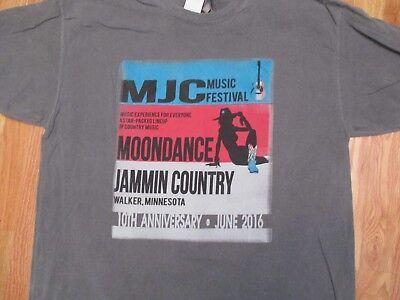 Moondance Jam Country Music Festival 2016 T Shirt Size XL