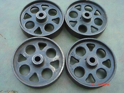 John Deere Cast Iron Wheel Set Hit Miss Gas Engine Steam Punk Industrial Cart 6