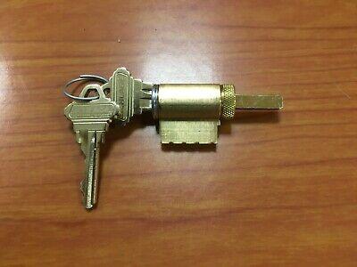 Schlage 1 Original Knob Lever Cylinder. Chrome 626 W 2 Keys. 6 Pin Cylinder.