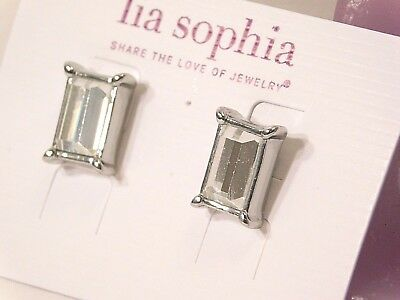 Beautiful Lia Sophia Fairest Of Them All Earrings  Cut Crystals  Nwt