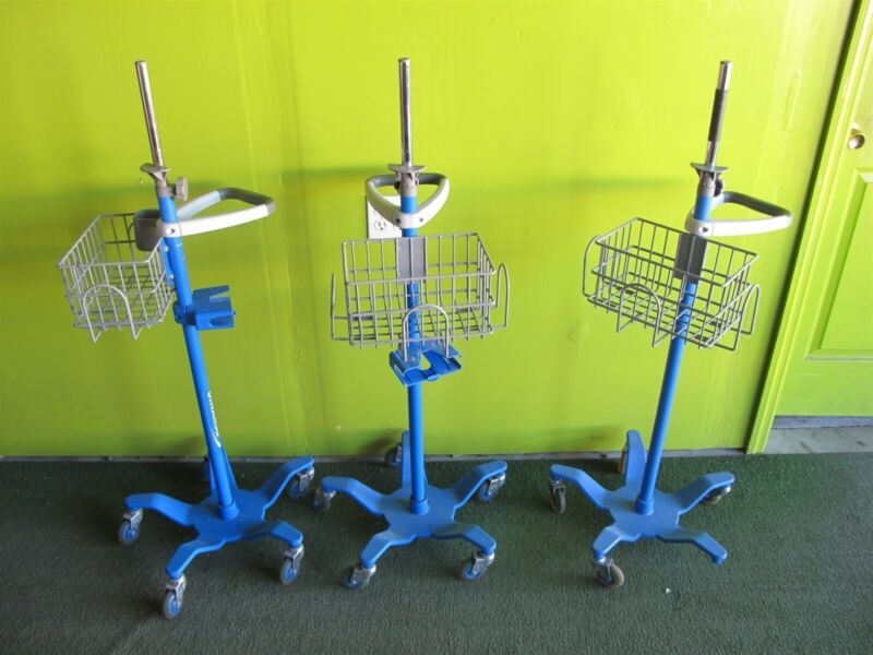 Lot of 3 - GE Dinamap Patient Monitor Stands 2033297-001
