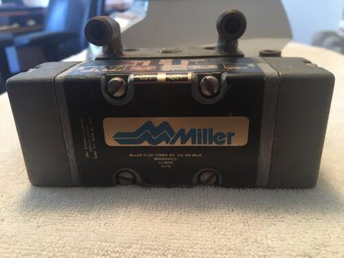 MILLER FLUID POWER 310 PNEUMATIC AIR VALVE W/ FITTINGS