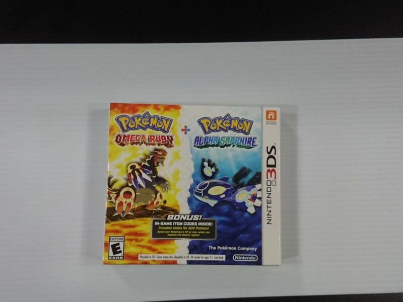 Nintendo 3DS Pokemon Omega Ruby/Alpha Sapphire Double Pack CIB 100% Authentic