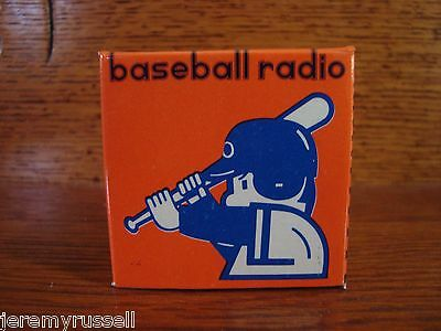 Vintage Made in Korea Transistor Radio Shaped Like Baseball in Box with Earbuds