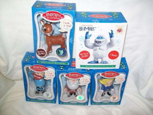 Christmas,   Rudolph 50th Anniversary  Complete Set with Bumble, 5 Figures