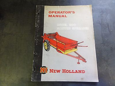 New Holland Model 200 Manure Spreader Operators Manual
