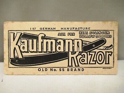 Vintage Kaufmann Razor Germany Advertise Sample Card Blotter Collectibles Rare""