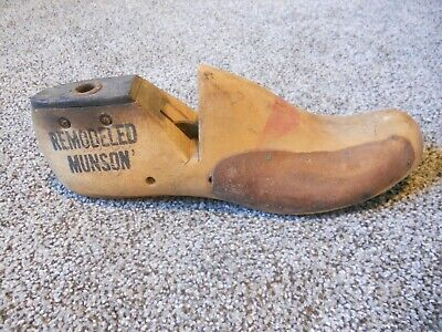 Vintage Wood Wooden Shoe Factory Industrial Mold Last 8 D #154 Remodeled MUNSON