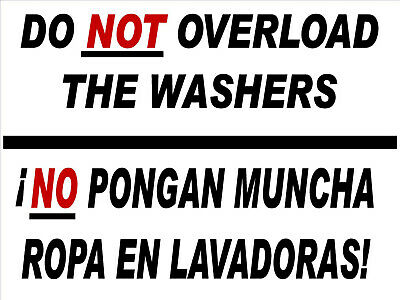Laundromat Sign Laundromat Rules Dont Overloadcoroplast18x24