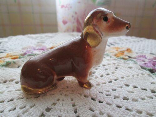 Vintage Ceramic Figurine Dachshund Weiner Dog Statue Collectible