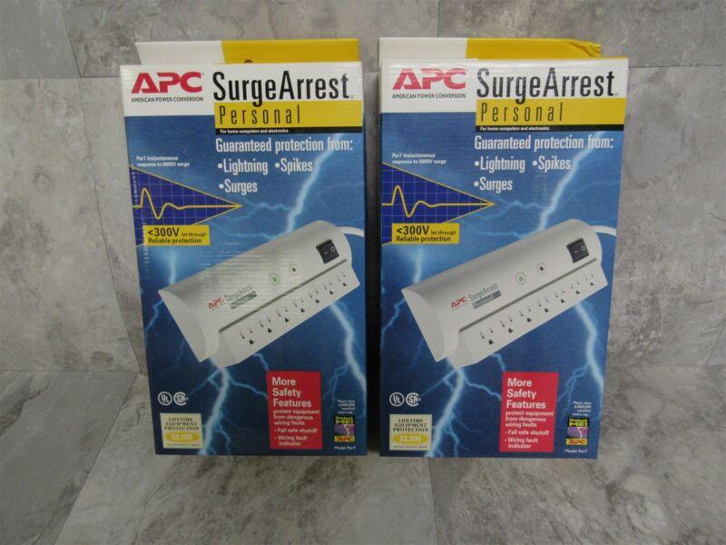Lot of 2 APC SurgeArrest Personal 7-Outlet Surge Protector Model PER7