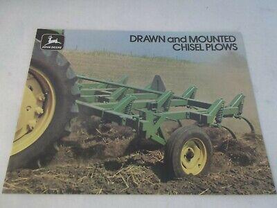 John Deere Drawn Mounted Chisel Plows Brochure Models 1600 1710 900